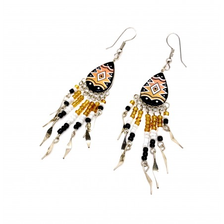 Earrings - Gold Southwest Mandala - El Paso