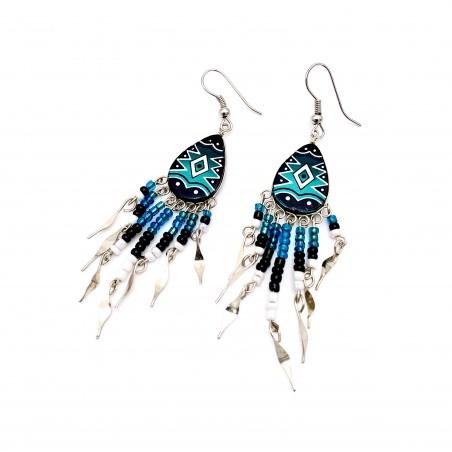 Earrings - Blue Southwest Mandala - El Paso