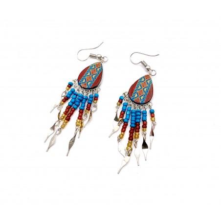 Earrings - Brown Southwest Mandala - El Paso