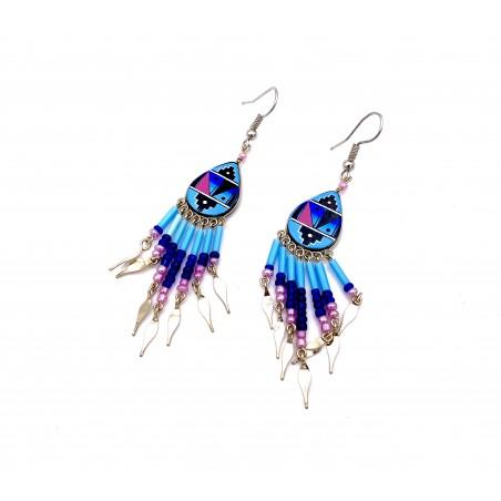 Earrings - Light Blue Southwest Mandala - El Paso