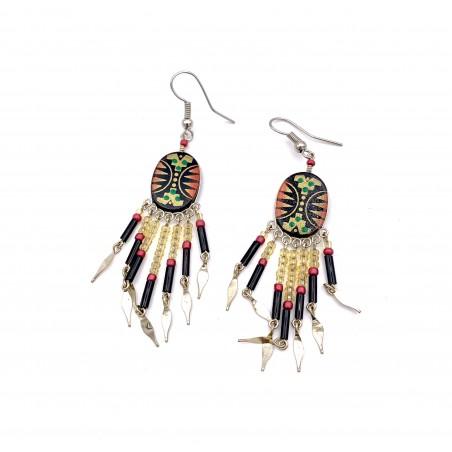 Earrings - Oval Southwest Mandala - El Paso