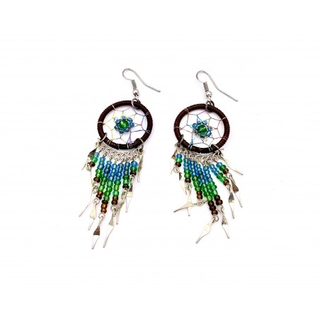 Earrings - Brown Dream Catcher - El Paso