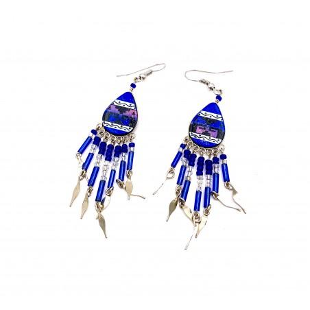 Boucles d'oreilles - Southwest Mandala Bleu Foncé - El Paso