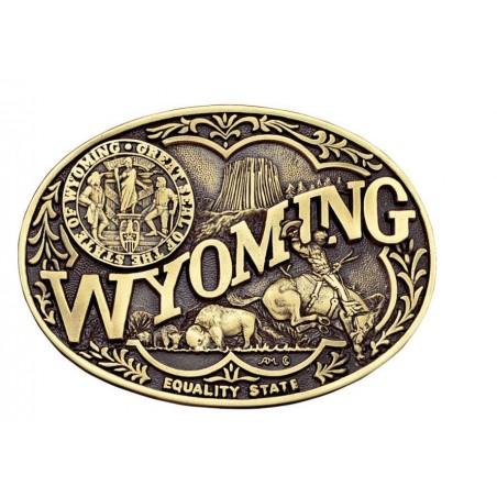 Western Buckle - Wyoming State - Montana Silversmiths