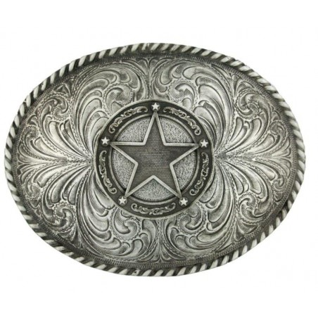 Western Buckle - Star Concho Classic Antiqued - Montana Silversmiths