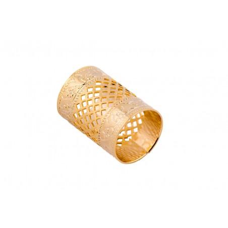 Scarf Slide - Gold Tube - Austin Accent