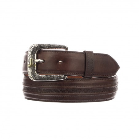 Belt - Brown Cowhide Leather Unisex - Lucchese