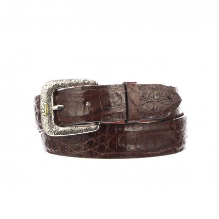 Belt - Genuine Caiman Leather Brown Unisex - Lucchese
