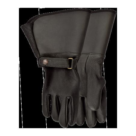 Interstate Unlined Motorcycle Gloves - Cowhide Black Unisex - Watson Gloves
