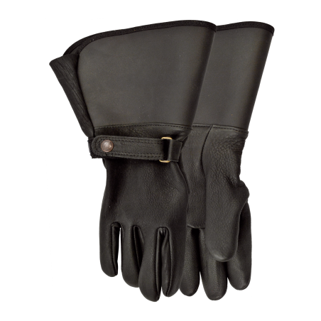 Interstate Lined Motorcycle Gloves - Cowhide Black Unisex - Watson Gloves