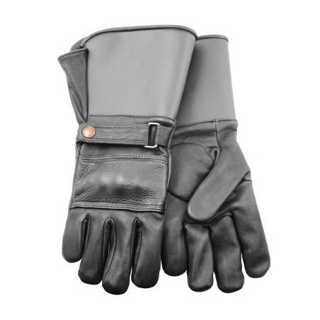 Knuckle Duster Motorcycle Gloves - Cowhide Black Unisex - Watson Gloves