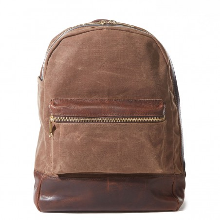 Heritage Backpack - Authentic Bison Leather Canvas