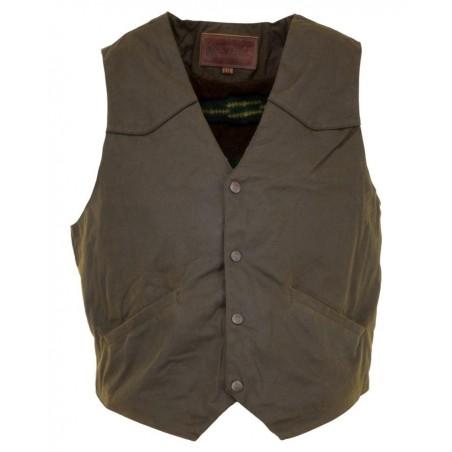 Cliffdweller Vest - Cotton Oilskin Brown Waterproof Men - Outback