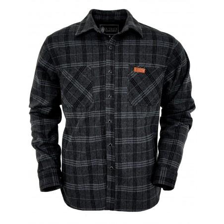 Fleece Big Shirt - Grey Plaid Men