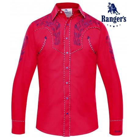Vintage Western Shirt - Embroidered Men - Ranger's