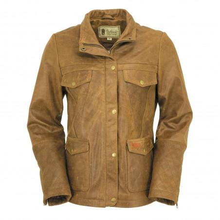 Jacket Arya - Buffalo Leather Brown Women - Outback